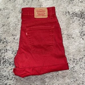 ✌🏼Levi's Vintage Red High Rise Shorts 8